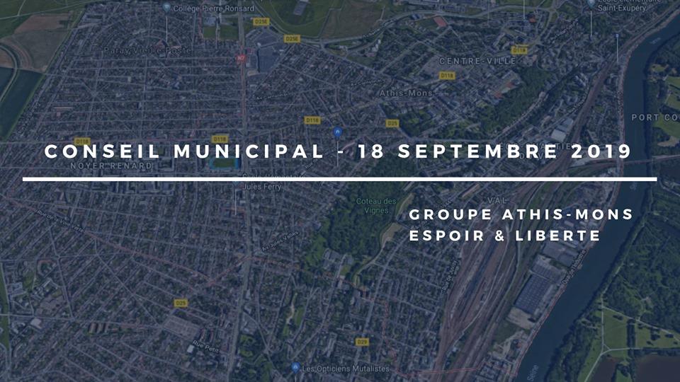 Conseil municipal du 18 septembre 2019