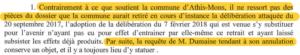 Extrait 2: Rejet par le tribunal d'un argument de la ville d'Athis-Mons qui voulait faire annuler la requête de Julien DUMAINE