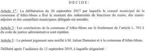 Extrait 5: le Tribunal Administratif de Versailles donne raison à Julien DUMAINE sur tous les points
