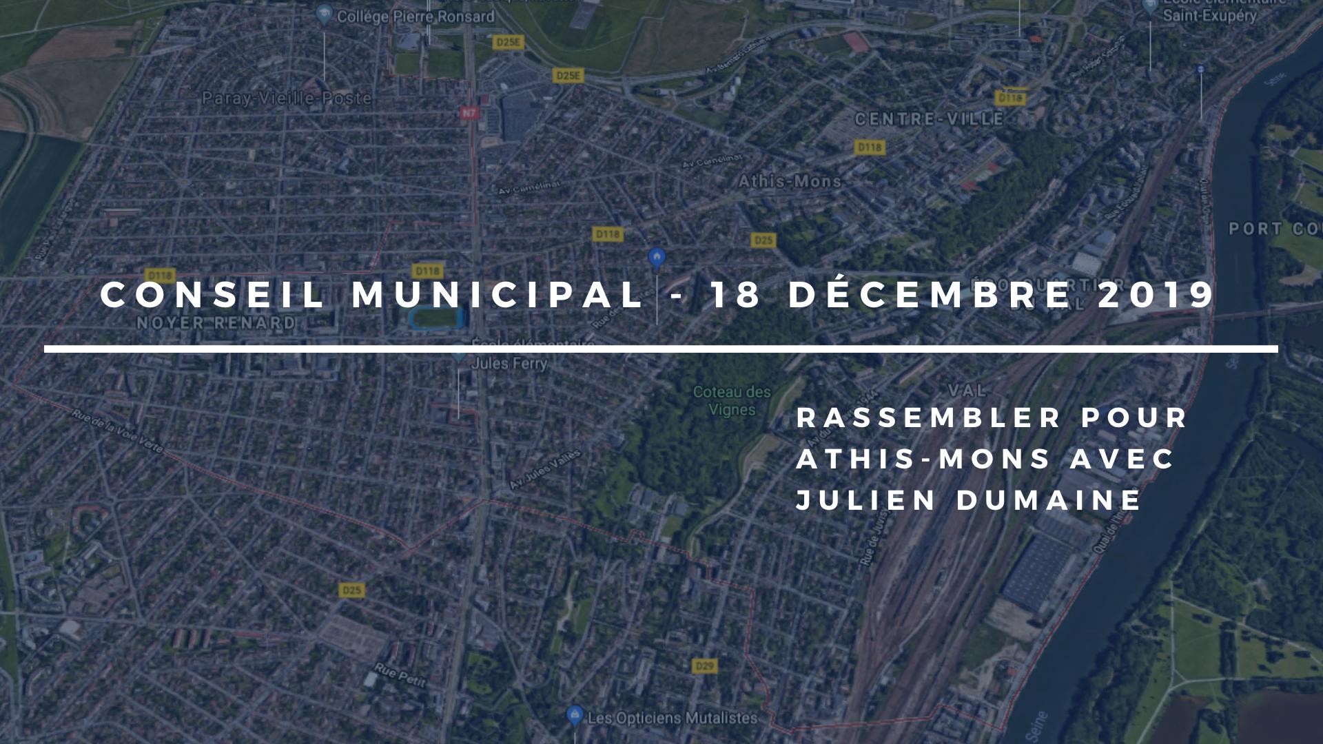 Conseil municipal du 18 décembre 2019