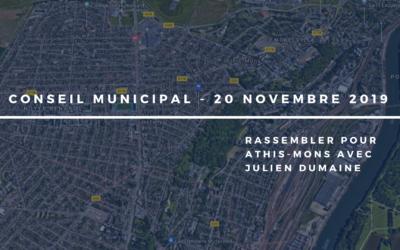 Conseil Municipal du 22 novembre 2019