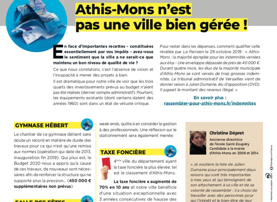 Athis-Mons n'est pas une ville bien gérée !