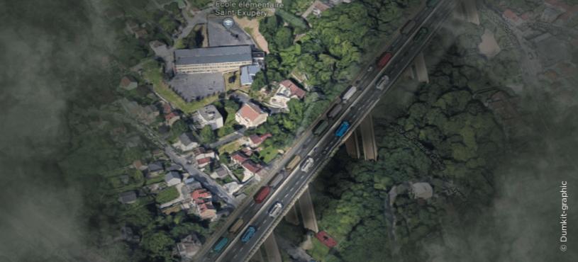 Simulation de l'impact du projet de franchissement de la Seine sur le quartier de Mons